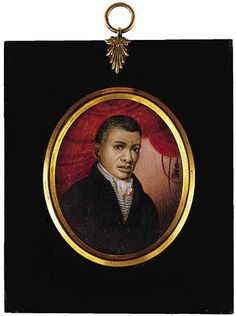 African American Gentleman Miniature Portrait, 19th century