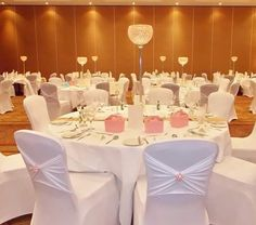 White chair covers at The Westerwood Hotel & Golf Resort #TheWesterwood #Weddings #QHotels