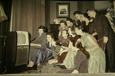 1950's- first color televisions. Anyone who bought their Television first the whole block would be over to watch the Ed Sullvan Show.