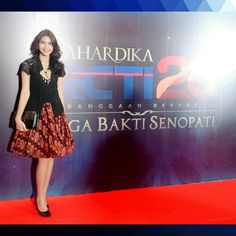 Sisa semalem.. Mahardika RCTI 26 Laga Bakti Senopati  Wearing kebaya top and batik skirt from @EverlastingBatik…