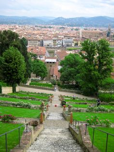 The Boboli Gardens sit perched above historic Florence, Italy. From certain vantage points within the garden, you can see the cityscape as the neighboring Pitti Palace acts as a barrier between the gardens and the rest of the Florentine world.
