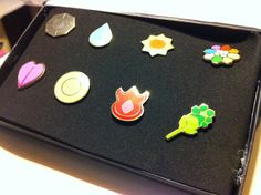 Metal Pokemon Badges  $35
