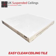 PVC Ceiling Panels - Easy Clean Ceiling Tiles - Vinyl Ceiling Tile Pvc Ceiling Panels, Ceiling Tiles, Ceiling Design, Tiles Uk, Grid Layouts, Grid System, White Vinyl, Ceilings, Cleaning Wipes