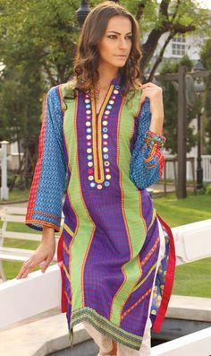 Orient Textiles Spring Summer Embroider kurti Collection 2016