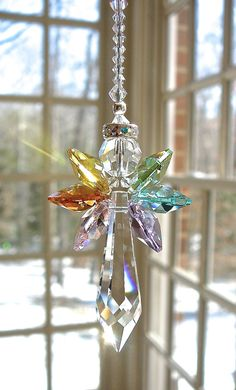 Swarovski Crystal Angel Suncatcher Spirit by HeartstringsByMorgan
