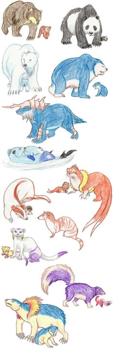 Bear and Weasel Pokemon realistic. and excuse. but samurott is a sea lion. and typhlosion and company are hedge hogs. Cat Pokemon, Pokemon Breeds, Pokemon Pins, Pokemon Fan Art, Pikachu, Pokemon Funny, Charmander, Pokemon Na Vida Real, Pokemon Pictures