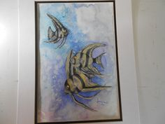 Unframed Angel Fish Water Color