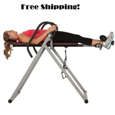 Gravity Inversion Table Back Relief Hang Ups Therapy Fitness Inverse Machine Gym - http://sports.goshoppins.com/exercise-fitness-equipment/gravity-inversion-table-back-relief-hang-ups-therapy-fitness-inverse-machine-gym/