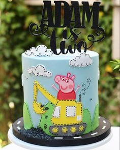 For the world's most adorable two year old boy who loves Peppa Pig and diggers The happiest of birthdays to little Adam from your fairy cake godmother ❤ Topper by @london_sparkle_eventdecor . . #thecakecuppery #cake #caker #baker #bake #birthdaycake #instacake #cakestagram #cakesofinstagram #cakedesign #cakeart #cakedesigner #cakeartist #specialoccasion #littleboy #twotoday #digger #peppapig
