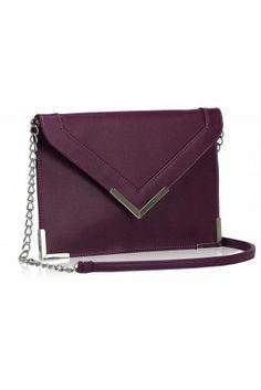 VB0179 Purple Clutch Bag