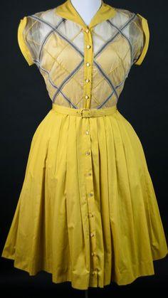 Costume Archive | Women's Day Dress 1940-1950. The perfect jitterbug dress.