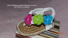 sandalias para bebe en crochet - YouTube