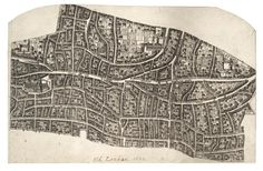 Wenceslas Hollar - London before the fire (State - Category:Old maps of the City of London - Wikimedia Commons Old Maps Of London, Old London, London City, Central London Map, Map Of Victoria, Toronto Library, Next London, Pictorial Maps, Plan Sketch
