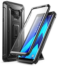 SUPCASE Unicorn Beetle PRO Series Phone Case for Samsung Galaxy Note 9, Full-Body Rugged Holster Case with Built-in Screen Protector for Samsung Galaxy Note 9 2018 - Black