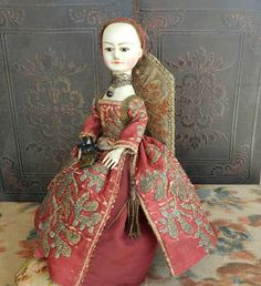 The Old Wooden Sisters: queen anne doll