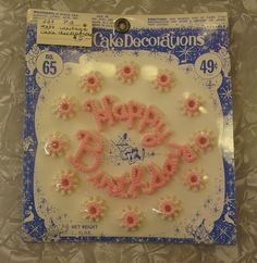 Vintage Happy Birthday Cake Decoration by hmdavid, via Flickr  I LOVED these! Such fond memories!  Cindy