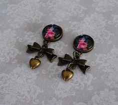 """Simply Sweet Rose Bows and Hearts Girly Plugs - 2g, 0g, 00g, 7/16"""", 1/2"""" by ryarr"""