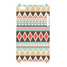 RARE Aztec Geometric Tribal Tribe Pattern iPod Touch 4 4g 4th Case Cover