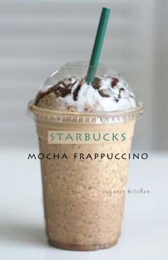 How To Make Starbucks Mocha Frappuccino at Home - Eugenie Kitchen