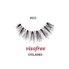 1Pair Visofree Eyelashes Fashion soft False Fake Human Hair Eyelashes Adhesives Glamour Crisscross Eye lashes Makeup Beauty #523