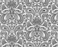 black & white malabar wallpaper | cole & son