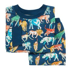 He'll feel special in these adorable Safari Animals-printed pyjamas. The set features a Long-sleeved t-shirt and elasticated bottoms, both with contrasting ribbed trims for added style. Crafted from cotton, the duo is a comfy choice. Safari Animals, Cath Kidston, Pj Sets, Little People, Pjs, Boy Outfits, Stylish, Sweatshirts, Long Sleeve