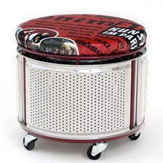 Le vieux tambour de lave-linge, je m'assois dessus ! / Recycled washing machine drum.