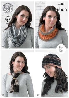 2b2d20863 Knitted Snood, Cowl, Neck Roll, Beanie, Scarf, Neck Wrap, Shoulder Wrap,  Muffler - King Cole