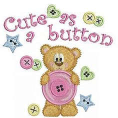 These sewing theme designs with cuddly animals and florals from Ace Points are Cute as a Button!