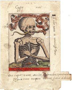 Memento Mori engraving (ca. 1500).  ♈ In Terror ♈