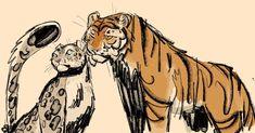 Tiger Drawing, Tiger Art, Big Cats Art, Cat Art, Furry Art, Cat Character, Character Design, Cartoon Drawings, Cartoons