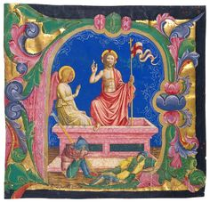 Resurrection, in an initial A - The Morgan Library & Museum - Collections