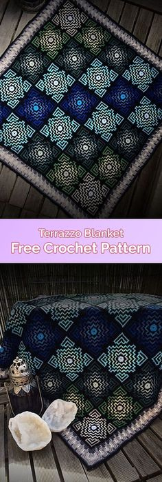 Terrazzo Blanket Free Crochet Pattern #crochet #crafts #homedecor #blanket #style