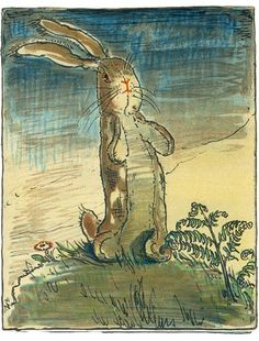 Lithograph for `The Velveteen Rabbit' (1922) by Margery Williams