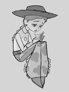 "rollingrabbit: ""my favourite deputy ✩ "" Disney Toys, Disney Movies, Disney Characters, Disney And Dreamworks, Disney Pixar, Disney Magic, Dibujos Toy Story, Story Drawing, Drawing Heads"