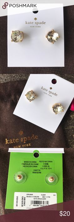 Kate Spade Large Sparkly Gum Drop Stud Earrings Large Sparkly Gum Drop Stud Earrings W Dust Bag - no trade kate spade Jewelry Earrings