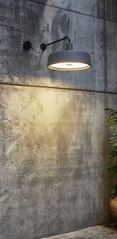 Applique murale d exterieur soho a gris o57cm marset normal