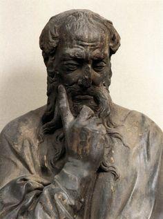 Regilla ⚜ Donatello,  Bearded Prophet (detail) c. 1418 Marble Museo dell'Opera del Duomo, Florence
