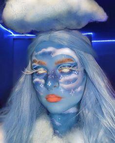 White Lenses, Carnival, Halloween Face Makeup, Cosplay, Painting, Mesh, Princess, Cloud, Make Up
