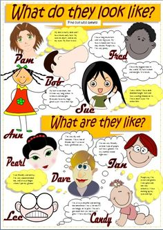 English stuff ESL: Describing people