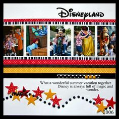 Red, Black and Yellow Disney layout