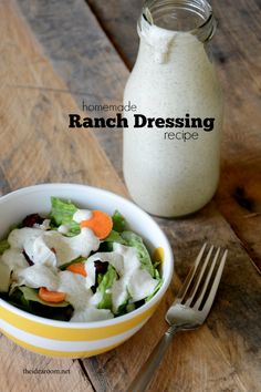 Buttermilk Ranch Dressing Recipe | theidearoom.net