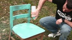 Mikey G at Burning Oak Studios shows us how to repurpose a basic wood school chair with Plutonium™ Paint and then distress it for a cool, ombre, rustic look. Great for beach house decor!  Filmed and edited by Burning Oak Studios. --> #PlutoniumPaint #SprayPaint #MadeInTheUSA #DIY #Crafty