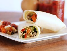 Black Bean and Butternut Squash Quinoa Wrap