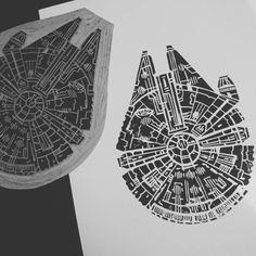 star wars lino print - Google Search