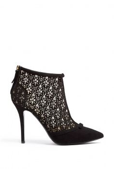 Next on the bootie list: Butterfly Decoupe Suede Ankle Boots by Moschino Cheap