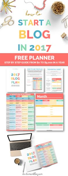 12 Month Blog Planner | Start a Mom Blog. How to grow a profitable and money making blog in your first year.