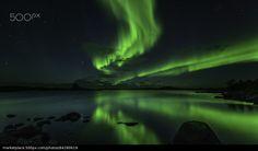 Dance of the Aurora - stock photo