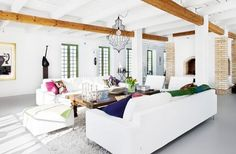 White Modern Living Room Design Ideas http://www.nicespace.me/white-modern-living-room-design-ideas-4079/