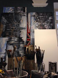 Estudio y pinceles Painting, Studio, Art, Nativity Sets, Sculptures, Kunst, Pictures, Painting Art, Paintings